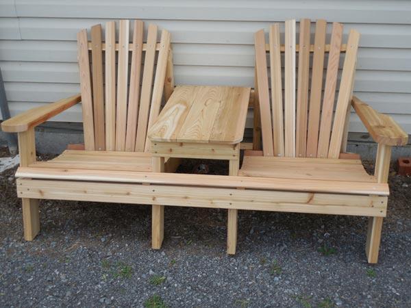 Cedar Settee - Handcrafted Wooden Outdoor Furniture - Zimmermans Country Furniture